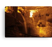 Cathedral Cave, National Showcaves, Brecon Canvas Print