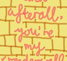 Afterall, You're My Wonderwall by shushucachoo