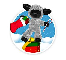 Thank You For My Christmas Presents - Little Sheep Thank You Card by Moonlake