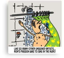 Singing in the shower Canvas Print