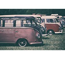 Classic VW Buses  Photographic Print