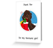 Thank You For My Christmas Gift, Little Monkey Thank You Card Greeting Card