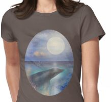 Dolphin In The Tropics Womens Fitted T-Shirt