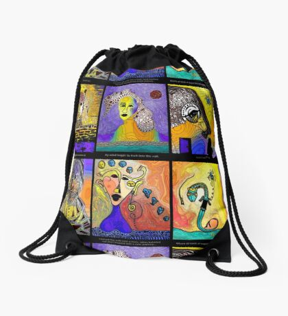Up Against The Wall Drawstring Bag
