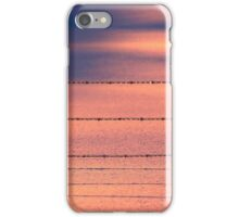 Pink Blue Snow Fence Wire iPhone Case/Skin