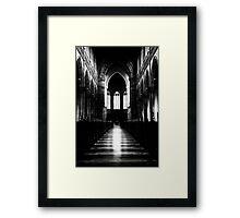 the dark in the light Framed Print