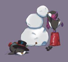 2 penguins, 1 snowman Kids Tee