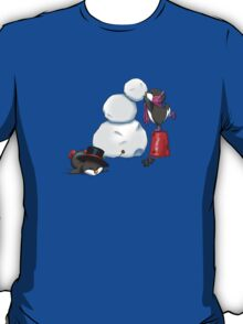 2 penguins, 1 snowman T-Shirt