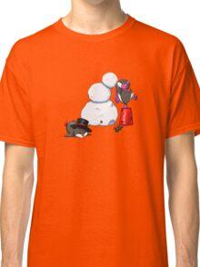 2 penguins, 1 snowman Classic T-Shirt