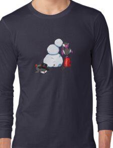 2 penguins, 1 snowman Long Sleeve T-Shirt
