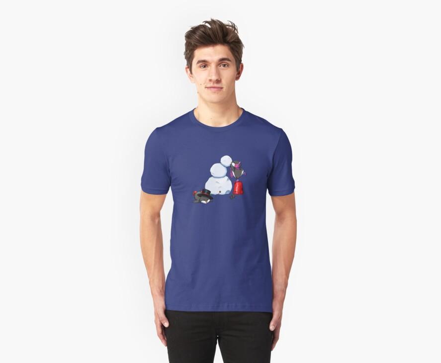 2 penguins, 1 snowman by easycomics