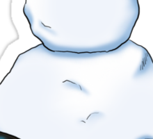 2 penguins, 1 snowman Sticker