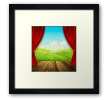 theater stage Framed Print