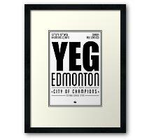 YEG - Edmonton Framed Print