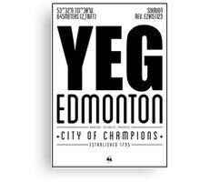 YEG - Edmonton Canvas Print