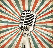 vintage microphone by naphotos