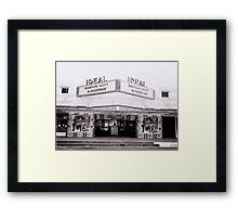 Ideal Theater ~ Now Showing... Framed Print