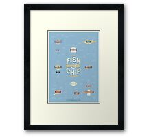 The Fish & Chip Taxonomy Framed Print