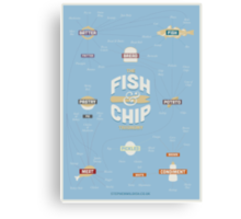 The Fish & Chip Taxonomy Canvas Print