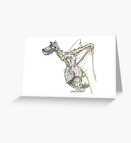 Pelicandragon coloured Greeting Card