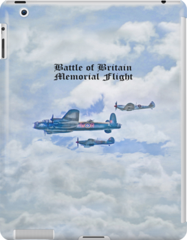 The Battle of Britain Memorial Flight iPad Case by Catherine Hamilton-Veal  ©
