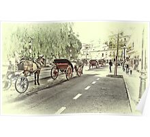 Horse-drawn Carriages Poster