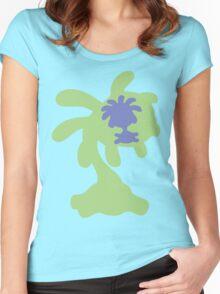 PKMN Silhouette - Lileep Family Women's Fitted Scoop T-Shirt