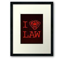 Law Lover Framed Print