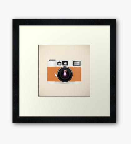 retro camera collection Framed Print