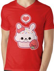 Cute Bunny Cupcake Mens V-Neck T-Shirt