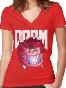 Cacodemon - Doom  Women's Fitted V-Neck T-Shirt