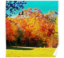 Autumn Watercolor Poster