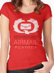 Zelda Wind Waker - Dragon Roost Island Airmail Women's Fitted Scoop T-Shirt