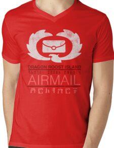 Zelda Wind Waker - Dragon Roost Island Airmail Mens V-Neck T-Shirt