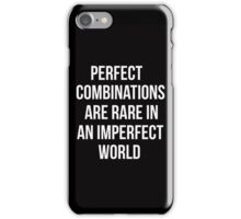 Teen Wolf cover - perfect combinations are rare in an imperfect world iPhone Case/Skin