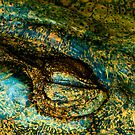 Eye of the Crocodile III [Print &amp; iPad Case] by Damienne Bingham