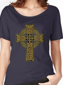 Celtic Cross in gold colors Women's Relaxed Fit T-Shirt