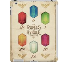Legend of Zelda The Rupees Geek Line Artly iPad Case/Skin