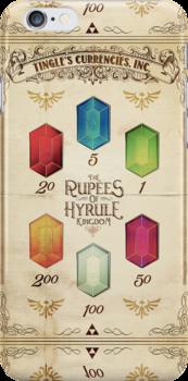 Legend of Zelda The Rupees Geek Line Artly by barrettbiggers