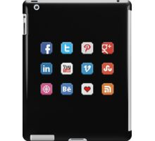 Social Media 8 bit icon iPad Case/Skin