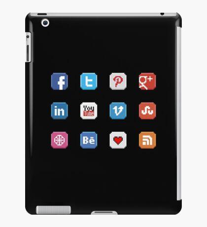 Social Media 8 bit icon iPad Case/Skin