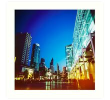 Bangkok city in twilight Art Print