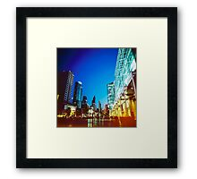 Bangkok city in twilight Framed Print