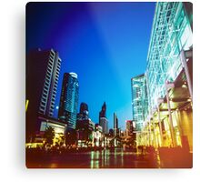 Bangkok city in twilight Metal Print
