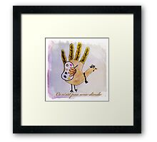 This is not a turkey Framed Print