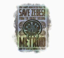 Metroid Propaganda Geek Line Artly  T-Shirt