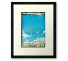 grunge blue sky and cloud Framed Print