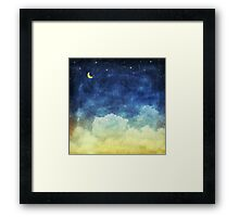 cloud and sky at night Framed Print