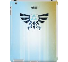 Legend of Zelda Hyrule Rising Minimal Vector Poster  iPad Case/Skin