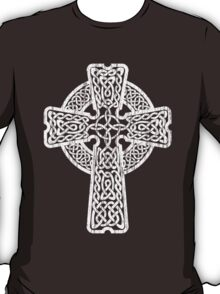 Celtic Cross in white T-Shirt